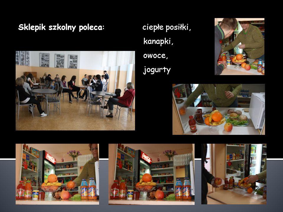 Sklepik szkolny poleca: ciepłe posiłki, kanapki, owoce, jogurty
