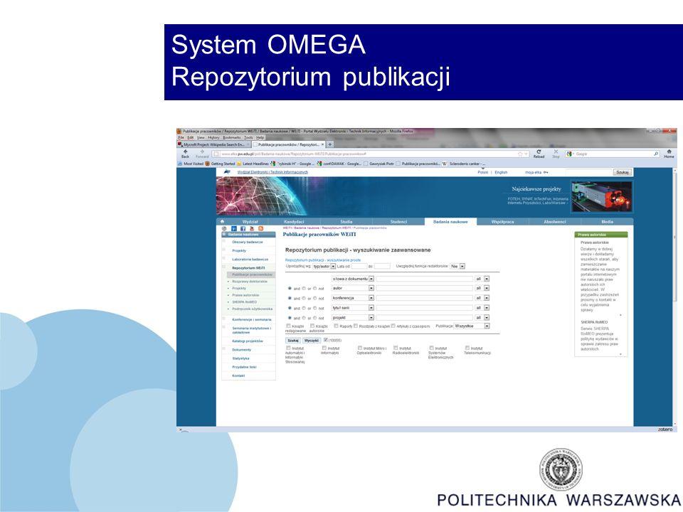 System OMEGA Repozytorium publikacji