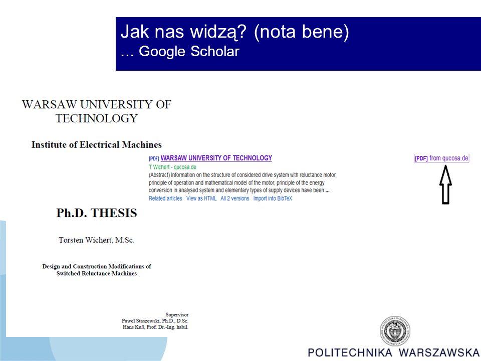 Jak nas widzą (nota bene) … Google Scholar