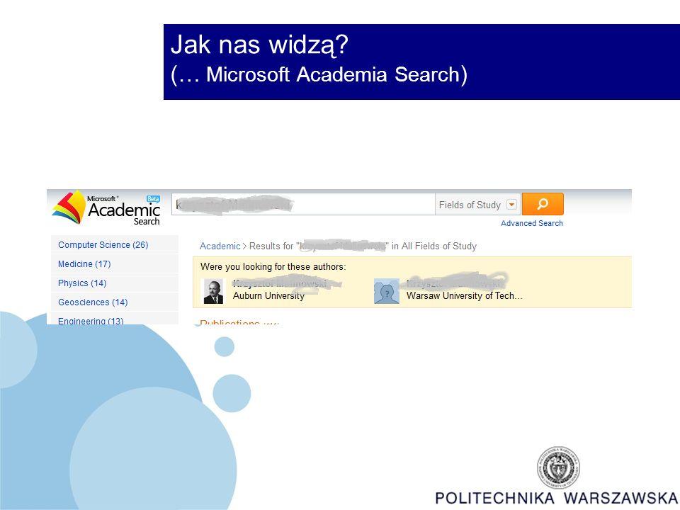 Jak nas widzą (… Microsoft Academia Search )