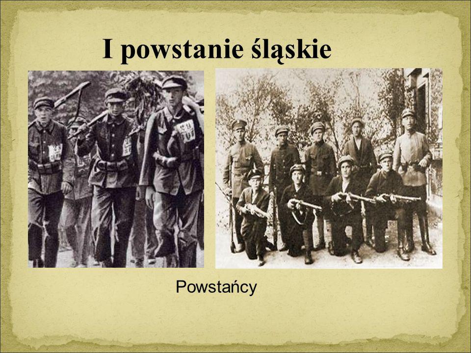 Powstańcy I powstanie śląskie