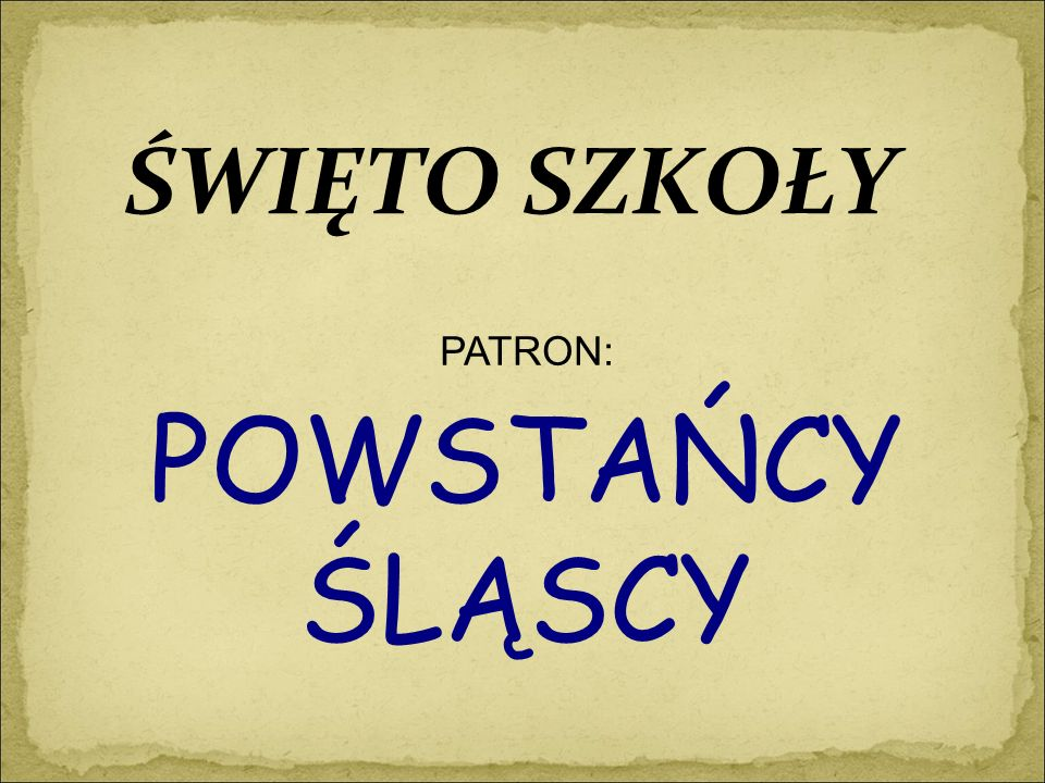 POWSTANIA ŚLĄSKIE 1919 1920 1921