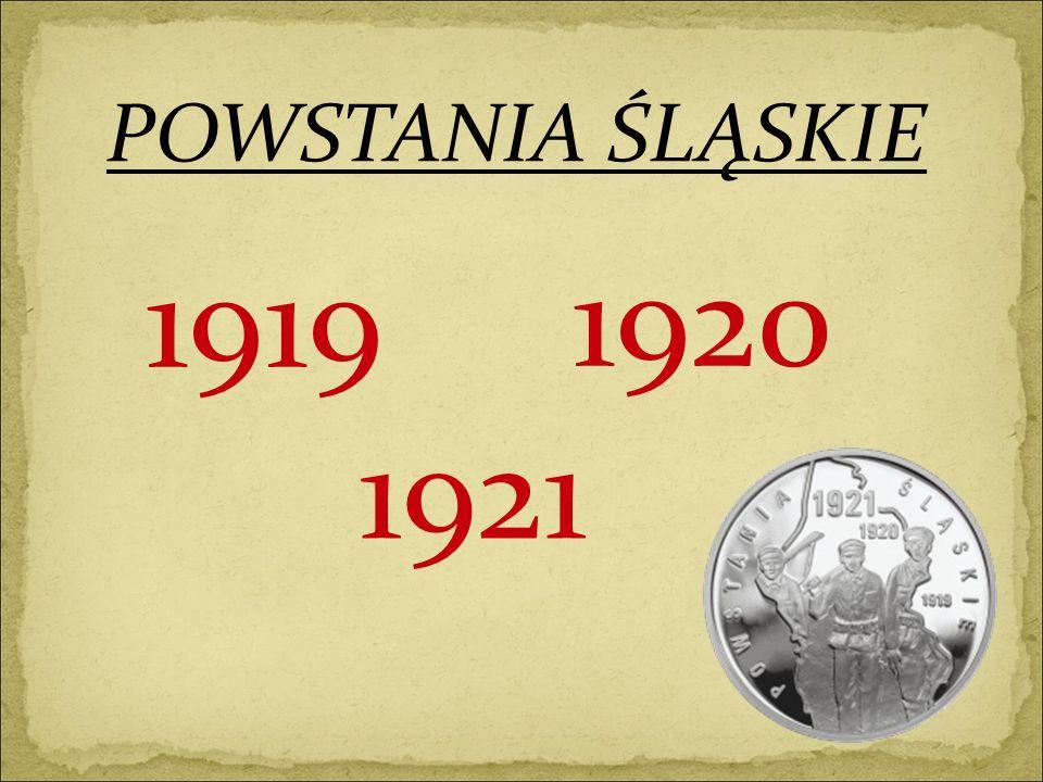 Skutki III powstania śląskiego - wejście wojsk francuskich i włoskich na tereny Śląska, - obszar przyznany Polsce powiększony został o 1/3 terytorium Śląska, - Polsce przypadło 50% hutnictwa i 76% kopalń węgla.