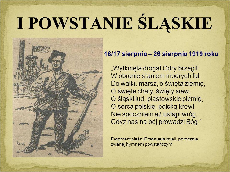 """Przebieg II powstania śląskiego Odezwa powstańców śląskich """"Chcemy być złączeni z braćmi naszymi, tej samej mowy, tej samej krwi i tego samego ducha."""