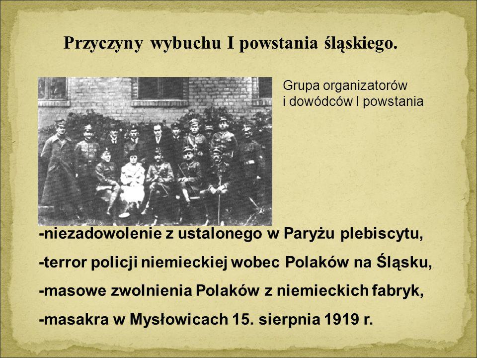 Przyczyny wybuchu I powstania śląskiego.