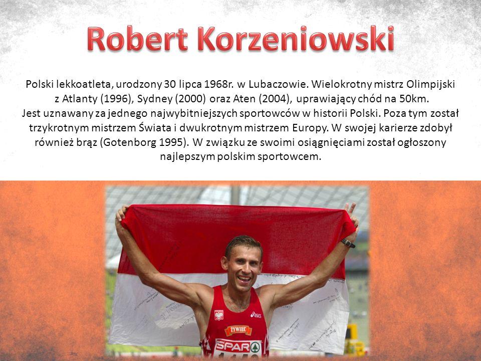 Polski lekkoatleta, urodzony 30 lipca 1968r. w Lubaczowie.