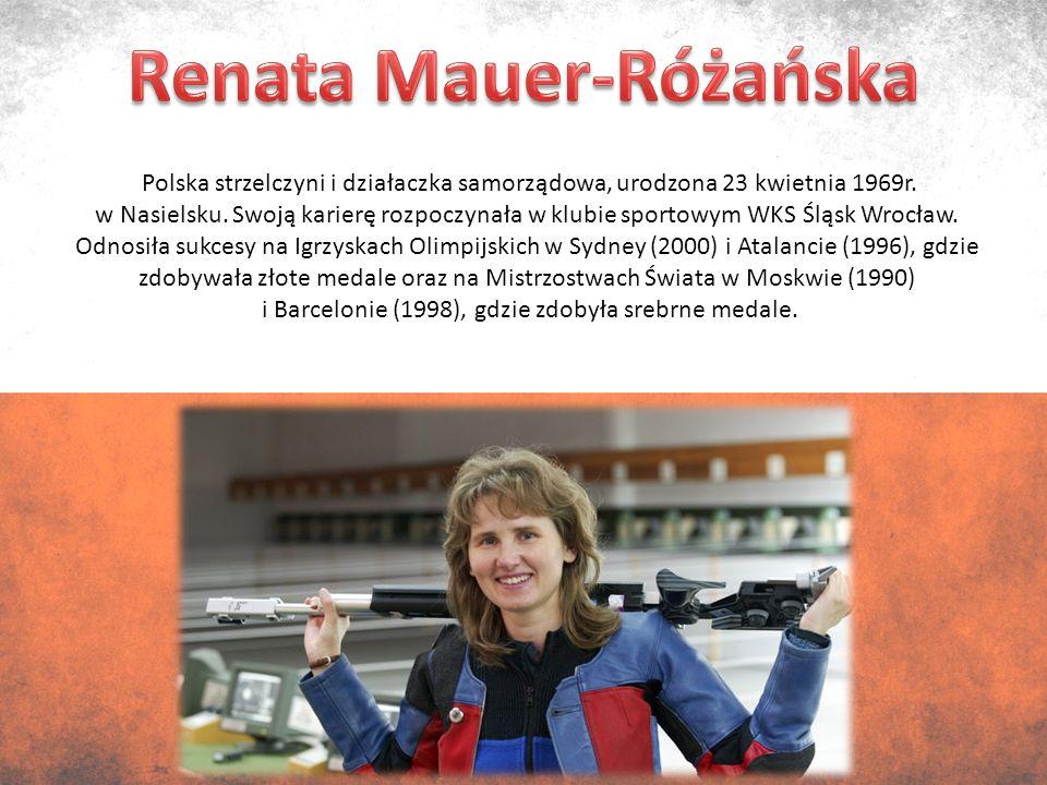 Polska strzelczyni i działaczka samorządowa, urodzona 23 kwietnia 1969r.