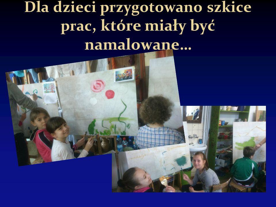 Dla dzieci przygotowano szkice prac, które miały być namalowane…