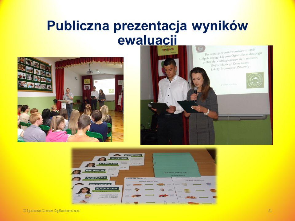Publiczna prezentacja wyników ewaluacji II Społeczne Liceum Ogólnokształcące51