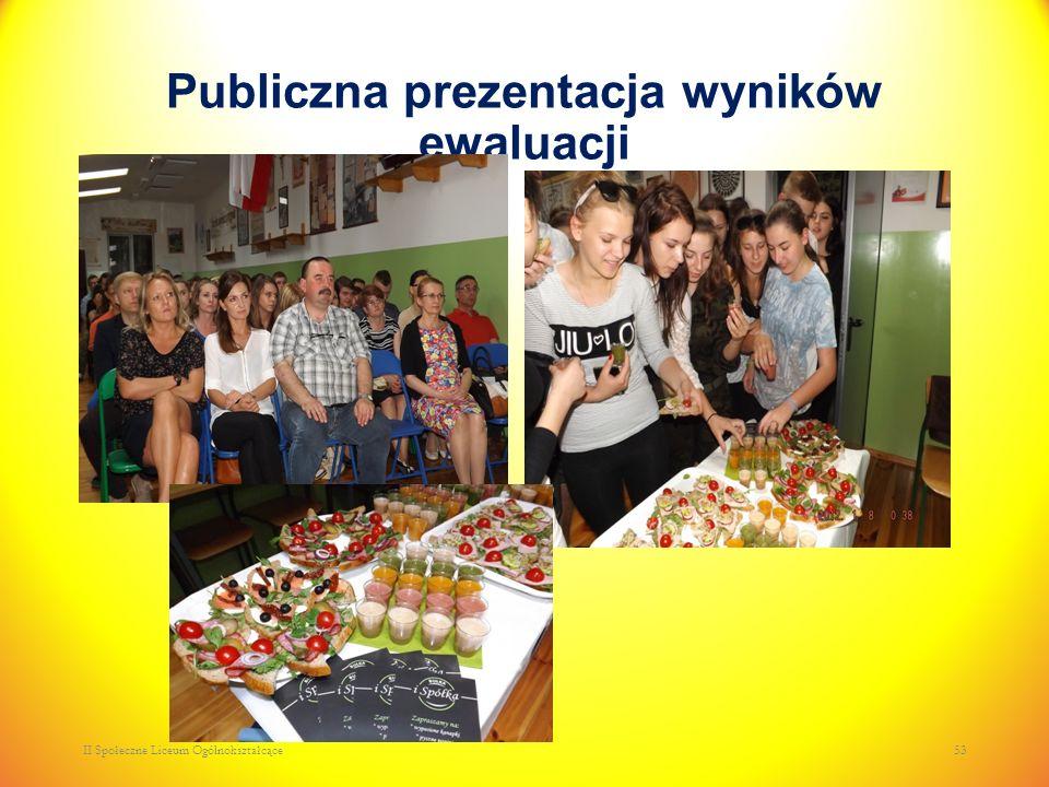Publiczna prezentacja wyników ewaluacji II Społeczne Liceum Ogólnokształcące53