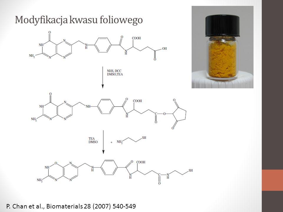 Modyfikacja kwasu foliowego P. Chan et al., Biomaterials 28 (2007) 540-549