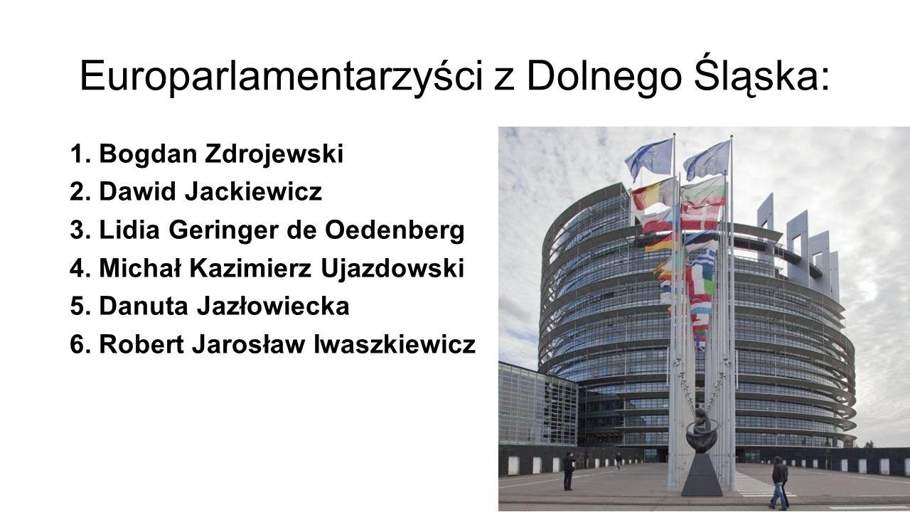 Europarlamentarzyści z Dolnego Śląska: 1. Bogdan Zdrojewski 2.