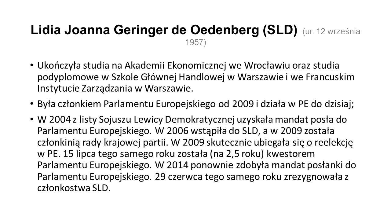 Lidia Joanna Geringer de Oedenberg (SLD) (ur.
