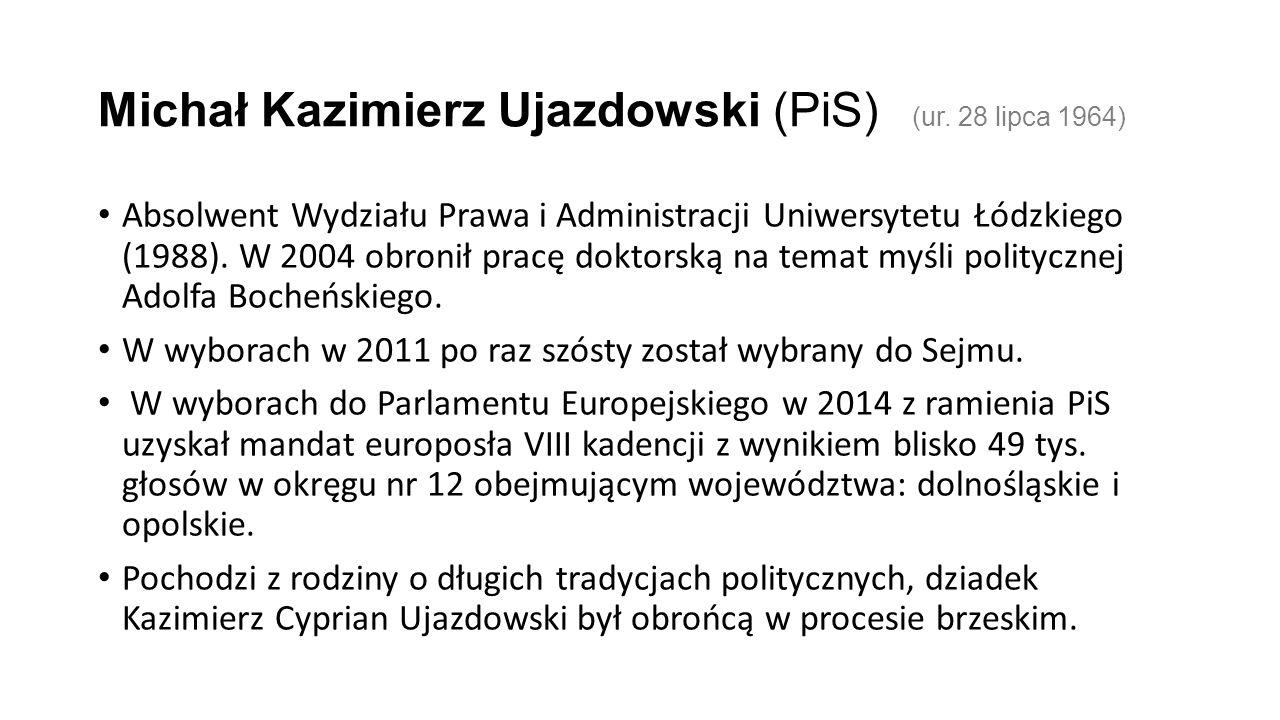 Michał Kazimierz Ujazdowski (PiS) (ur.
