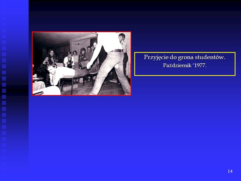 13 Młodość Sławka. Po zdaniu matury w Liceum Ogólnokształcącym w Staszowie podjął studia na Politechnice Łódzkiej, na Wydziale Mechanicznym w roku 197