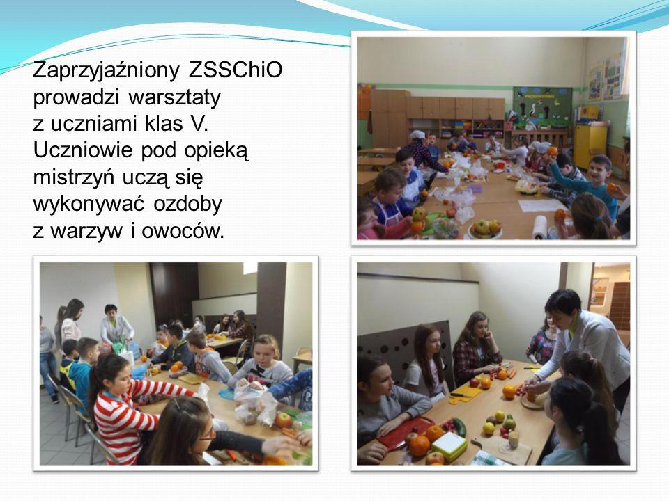 Zaprzyjaźniony ZSSChiO prowadzi warsztaty z uczniami klas V.