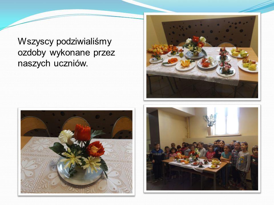 Wszyscy podziwialiśmy ozdoby wykonane przez naszych uczniów.