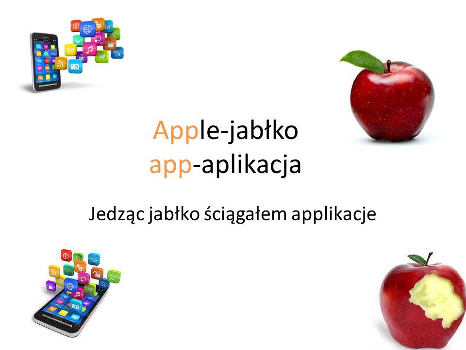 Jedząc jabłko ściągałem applikacje Apple-jabłko app-aplikacja