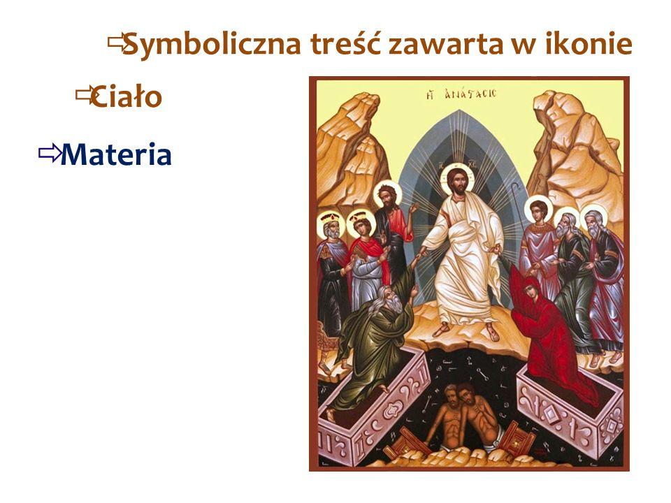 SSymboliczna treść zawarta w ikonie  Materia  Ciało