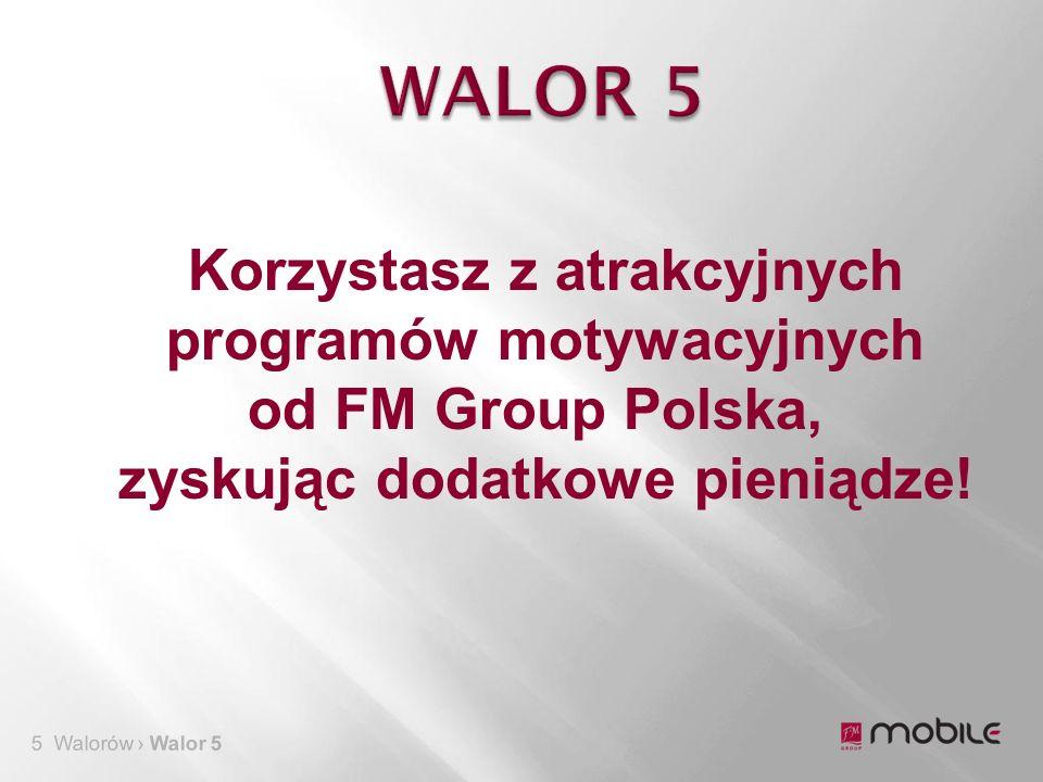5 Walorów › Walor 5 Korzystasz z atrakcyjnych programów motywacyjnych od FM Group Polska, zyskując dodatkowe pieniądze!