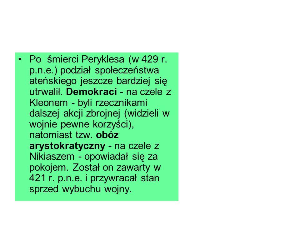 Po śmierci Peryklesa (w 429 r.