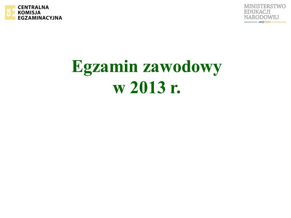 Egzamin zawodowy w 2013 r.