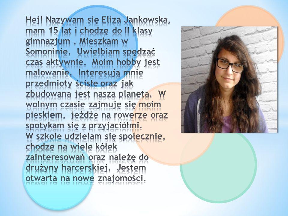Hej.Nazywam się Krystian Plichta. Mam 14 lat i uczęszczam do II klasy Gimnazjum Publicznego im.
