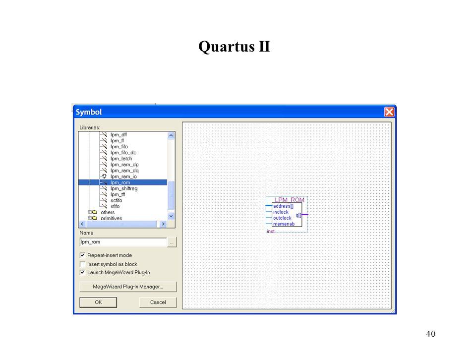 40 Quartus II