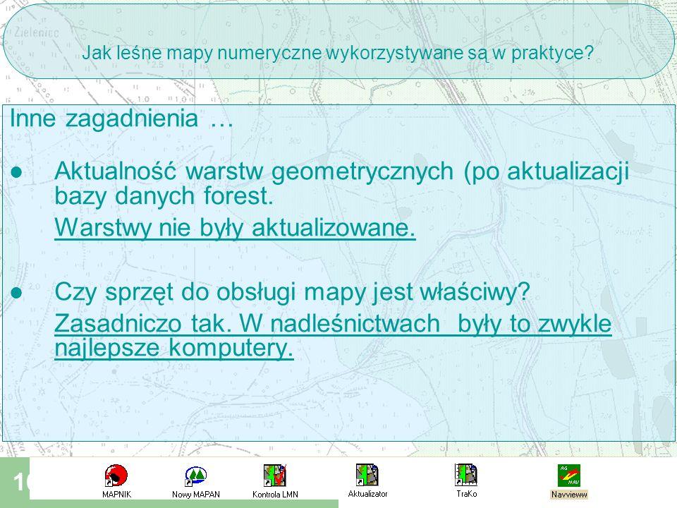 III Konferencja SIP w LP Rogów 09 2006 16 Jak leśne mapy numeryczne wykorzystywane są w praktyce.