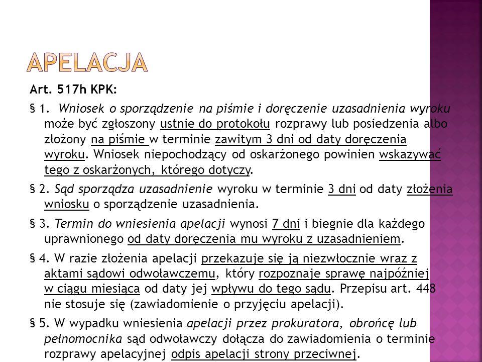 Art. 517h KPK: § 1.