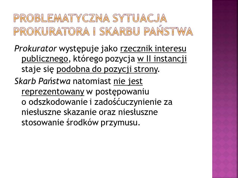 Prokurator występuje jako rzecznik interesu publicznego, którego pozycja w II instancji staje się podobna do pozycji strony.