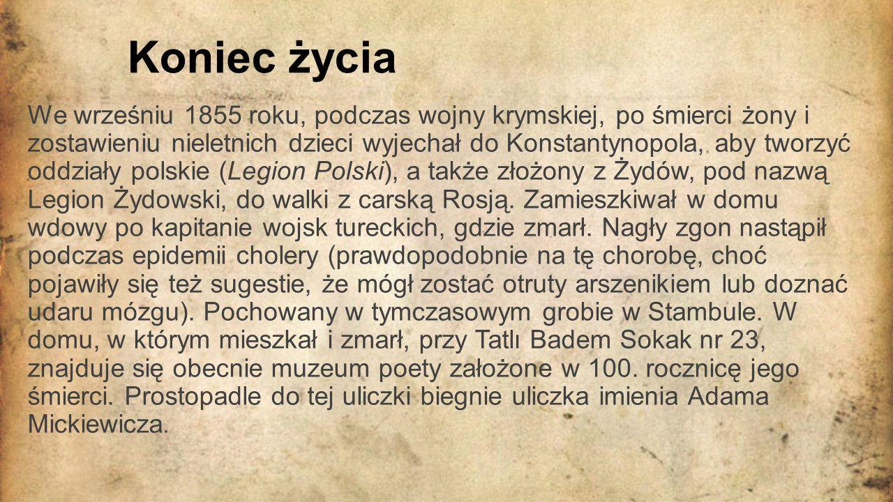 Zasługi i osiągnięcia poety Twórca największej polskiej epopei narodowej.