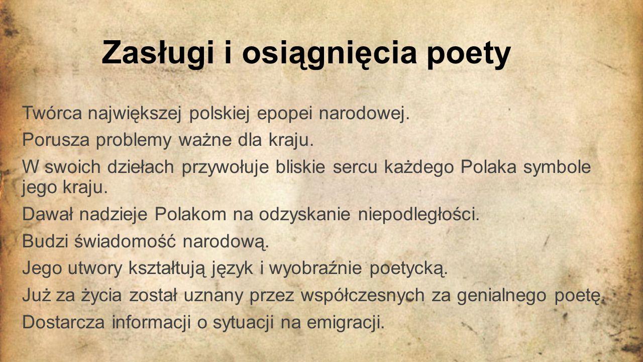 Zapamiętany przez miliony Adam Mickiewicz jako wybitny poeta jest pamiętany nie tylko w Polsce lecz też we Francji.