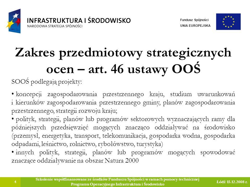 Zakres przedmiotowy strategicznych ocen – art.