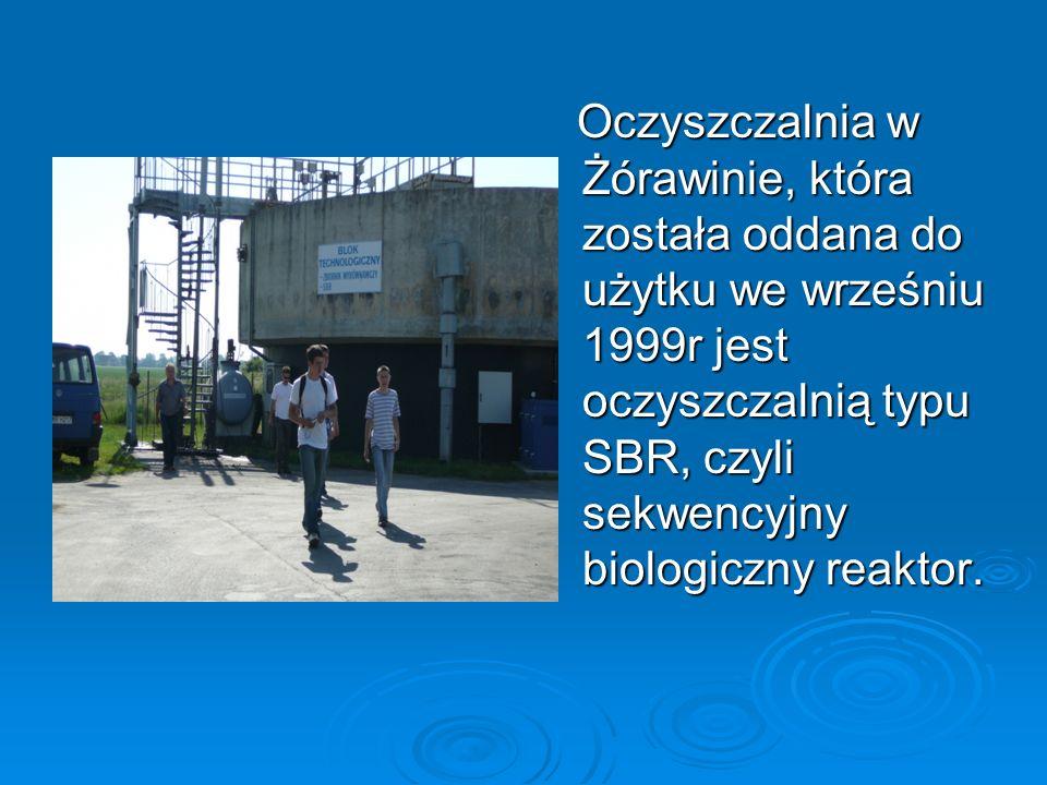 Oczyszczalnia w Żórawinie, która została oddana do użytku we wrześniu 1999r jest oczyszczalnią typu SBR, czyli sekwencyjny biologiczny reaktor.
