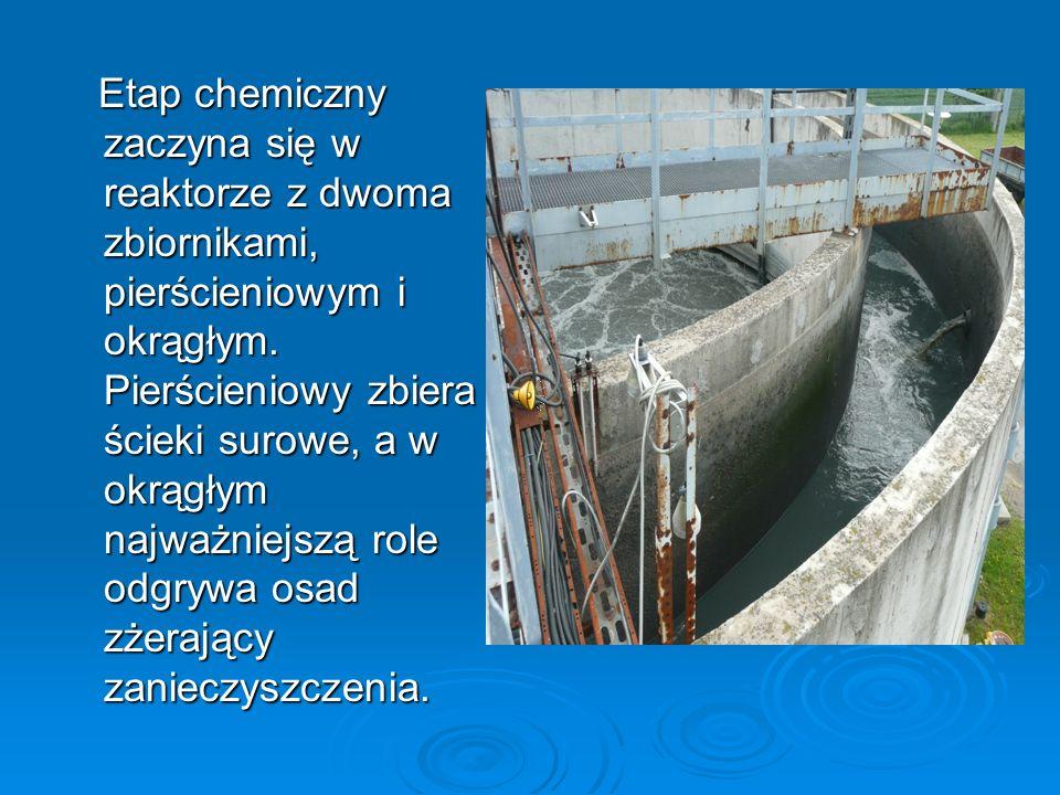 Etap chemiczny zaczyna się w reaktorze z dwoma zbiornikami, pierścieniowym i okrągłym.