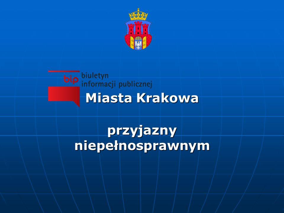 Miasta Krakowa przyjazny niepełnosprawnym