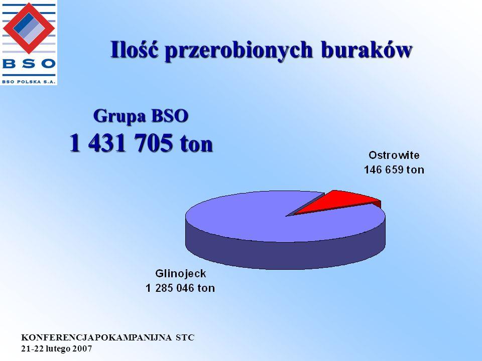 KONFERENCJA POKAMPANIJNA STC 21-22 lutego 2007 SYSTEMY ZARZĄDZANIA W BSO Polska S.A.