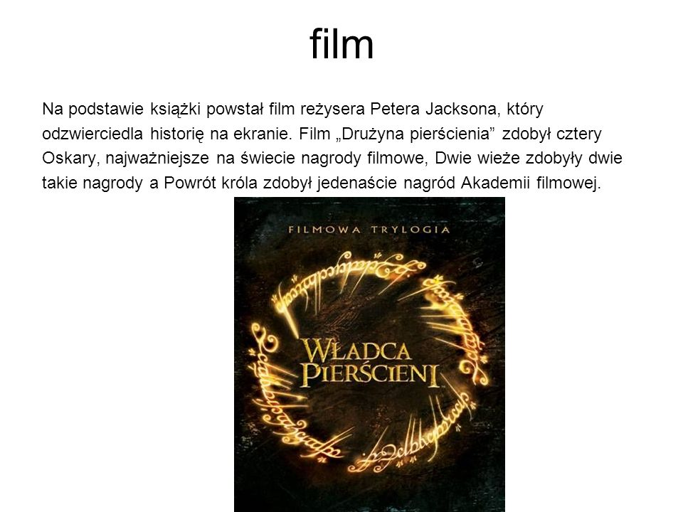 film Na podstawie książki powstał film reżysera Petera Jacksona, który odzwierciedla historię na ekranie.
