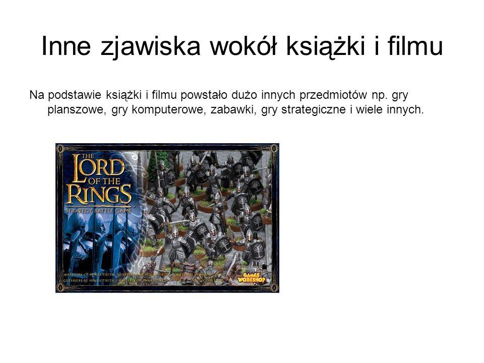 Inne zjawiska wokół książki i filmu Na podstawie książki i filmu powstało dużo innych przedmiotów np.