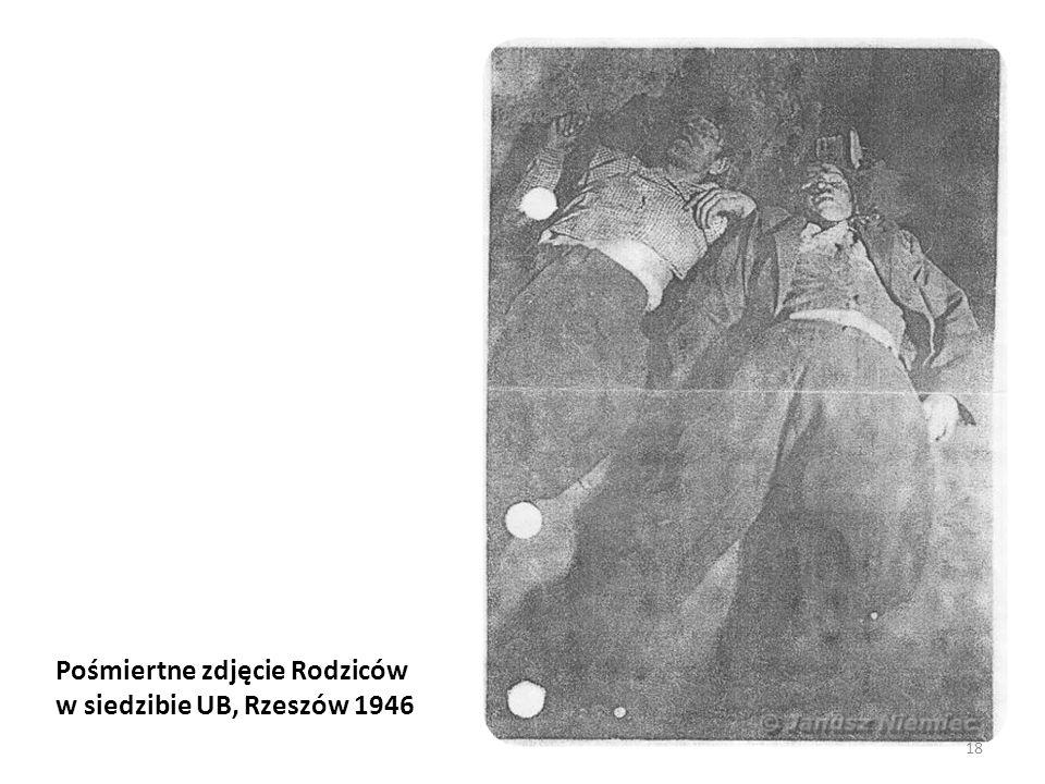 Pośmiertne zdjęcie Rodziców w siedzibie UB, Rzeszów 1946 18