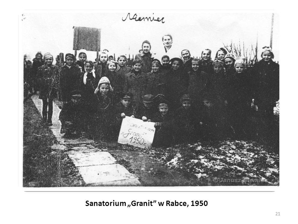 """Sanatorium """"Granit"""" w Rabce, 1950 21"""