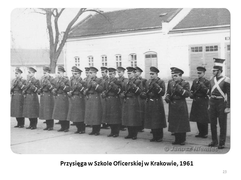 Przysięga w Szkole Oficerskiej w Krakowie, 1961 23