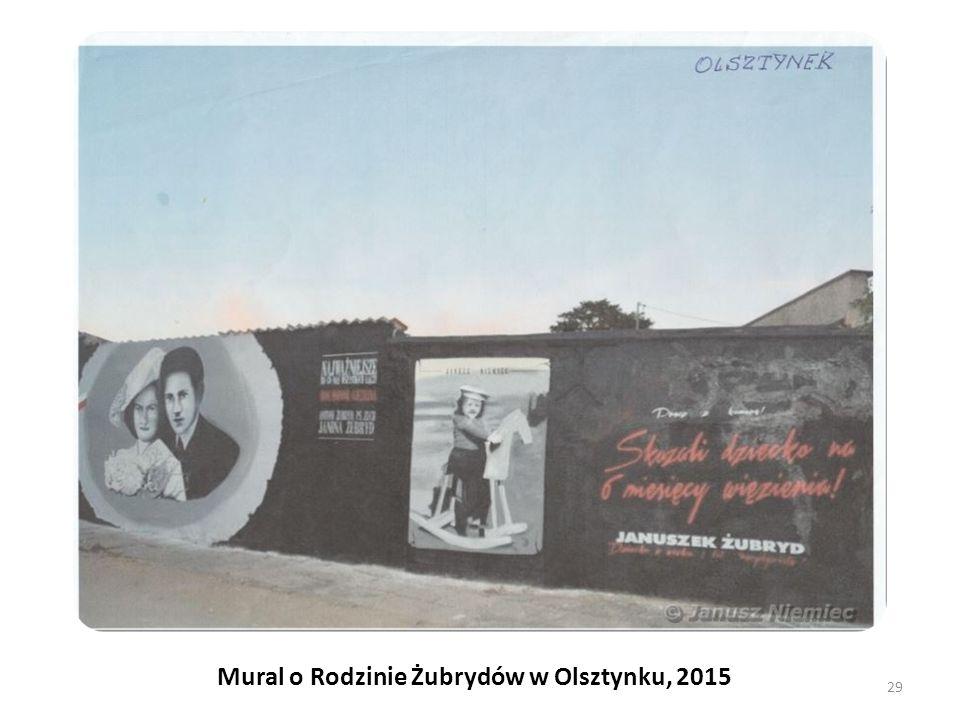Mural o Rodzinie Żubrydów w Olsztynku, 2015 29
