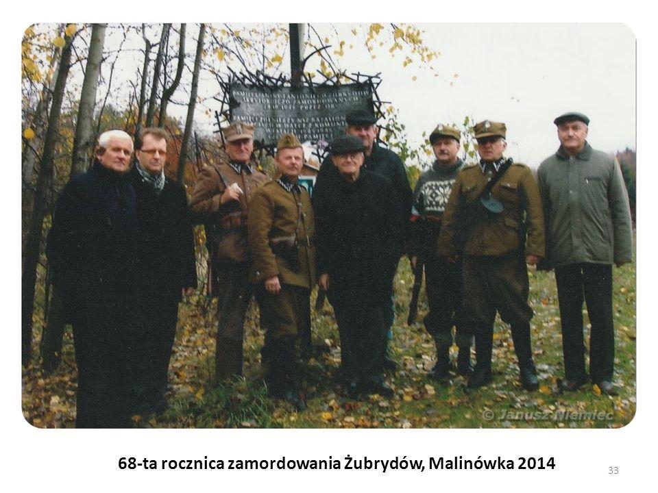 68-ta rocznica zamordowania Żubrydów, Malinówka 2014 33