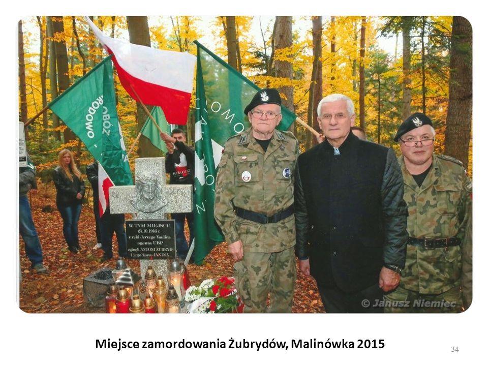 Miejsce zamordowania Żubrydów, Malinówka 2015 34