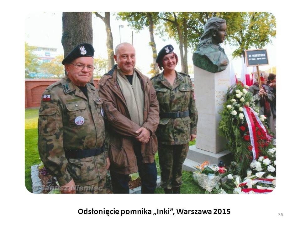 """Odsłonięcie pomnika """"Inki"""", Warszawa 2015 36"""