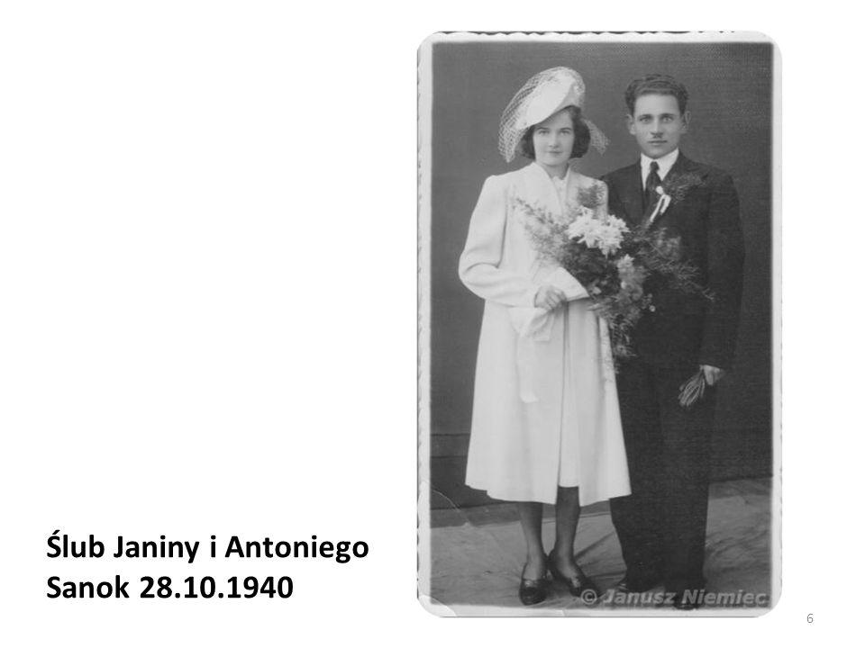 Ślub Janiny i Antoniego Sanok 28.10.1940 6