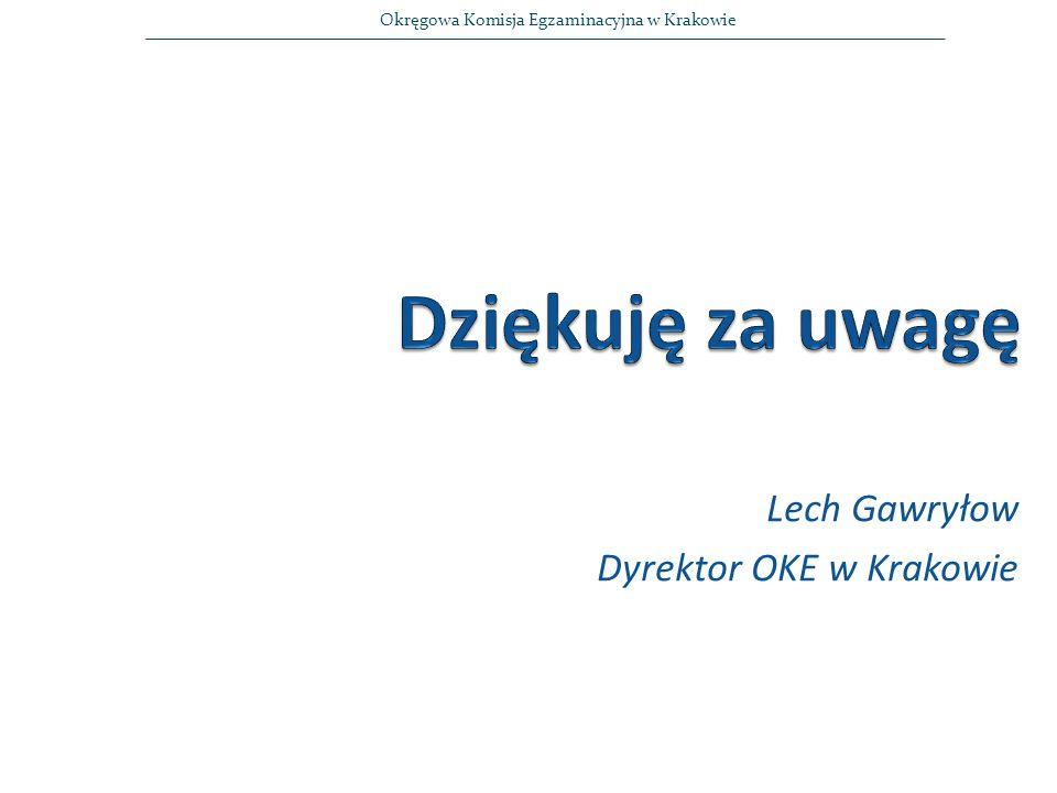 Lech Gawryłow Dyrektor OKE w Krakowie