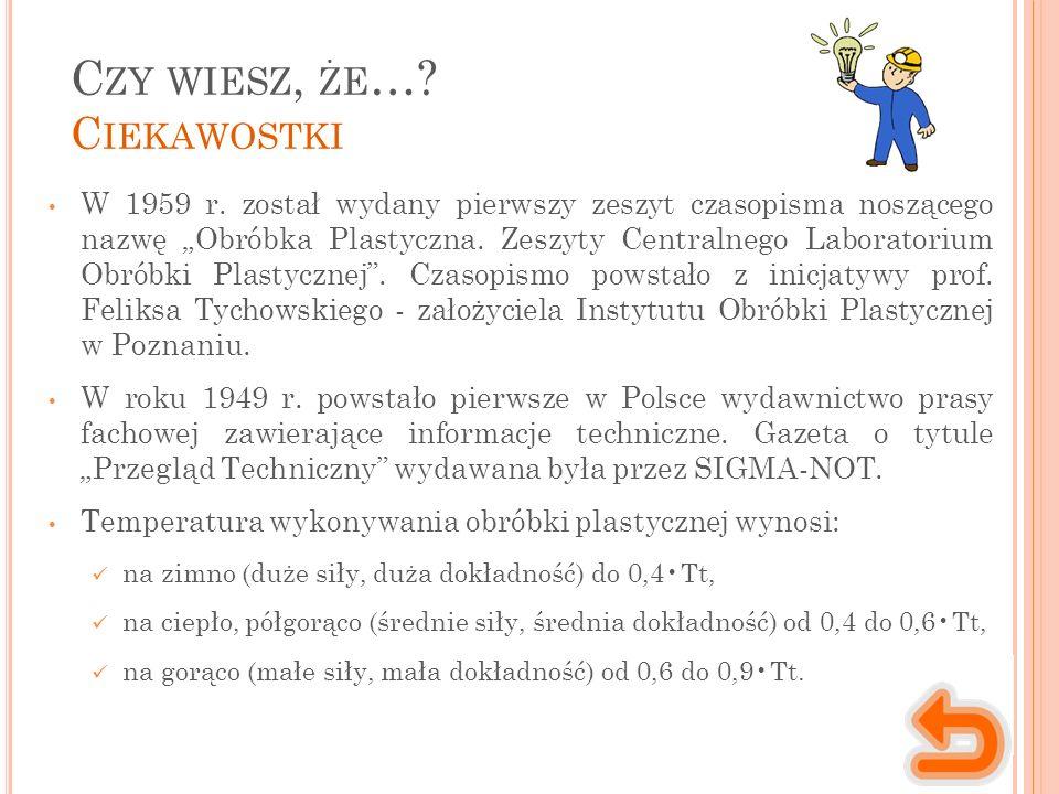 C ZY WIESZ, ŻE …. C IEKAWOSTKI W 1959 r.